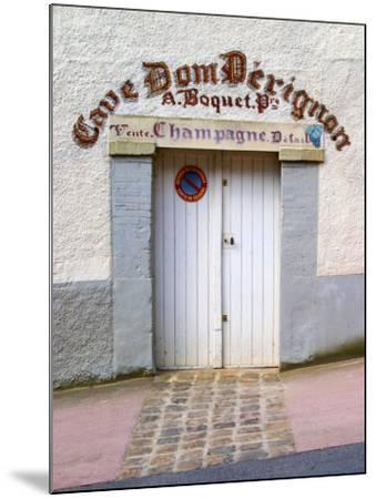Entrance to Cellar in Cave Dom Perignon, Hautvillers, Vallee De La Marne, Champagne, France-Per Karlsson-Mounted Photographic Print