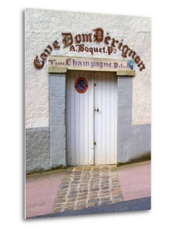 Entrance to Cellar in Cave Dom Perignon, Hautvillers, Vallee De La Marne, Champagne, France-Per Karlsson-Metal Print