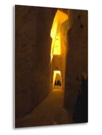 Wine Cellar, Old Chalk Quarry, Champagne Ruinart, Reims, Marne, Ardennes, France-Per Karlsson-Metal Print