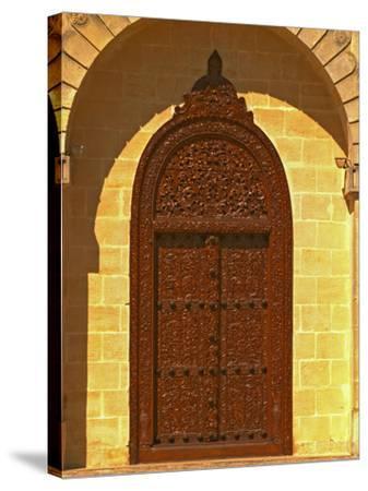 Entrance to Winery at Cos d'Estournel, Oriental Style, Saint St. Estephe, Medoc, Bordeaux, France-Per Karlsson-Stretched Canvas Print