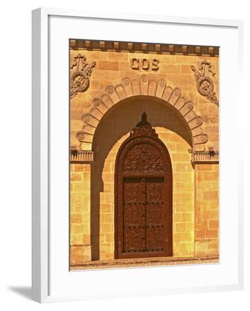 Entrance to Winery at Cos d'Estournel, Oriental Style, Saint St. Estephe, Medoc, Bordeaux, France-Per Karlsson-Framed Photographic Print
