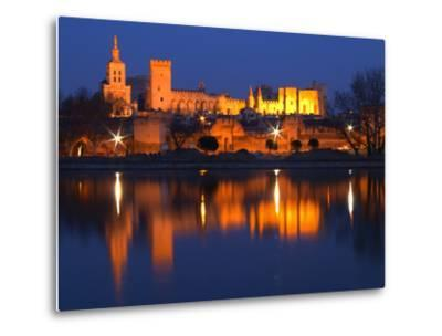 Pope's Palace in Avignon and the Rhone River at Sunset, Vaucluse, Rhone, Provence, France-Per Karlsson-Metal Print