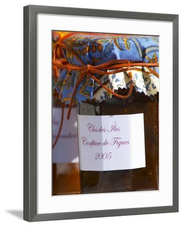 Jars Pots of Marmelade Covered with Provencal Cloth, Clos Des Iles, Le Brusc-Per Karlsson-Framed Photographic Print