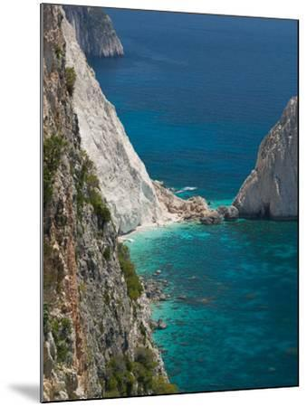 Cliffs at Cape Keri, Zakynthos, Ionian Islands, Greece-Walter Bibikow-Mounted Photographic Print