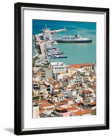 Town and Port, Zakynthos, Ionian Islands, Greece-Walter Bibikow-Framed Photographic Print