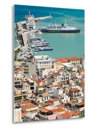 Town and Port, Zakynthos, Ionian Islands, Greece-Walter Bibikow-Metal Print