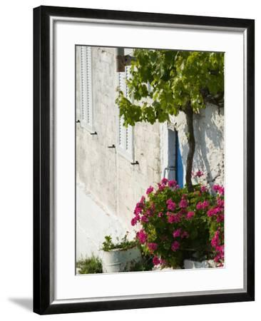 Hillside Vacation Villa Detail, Assos, Kefalonia, Ionian Islands, Greece-Walter Bibikow-Framed Photographic Print