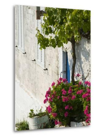 Hillside Vacation Villa Detail, Assos, Kefalonia, Ionian Islands, Greece-Walter Bibikow-Metal Print