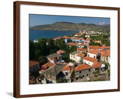 Church of the Sweet Kissing Virgin, Petra, Lesvos, Mithymna, Northeastern Aegean Islands, Greece-Walter Bibikow-Framed Photographic Print
