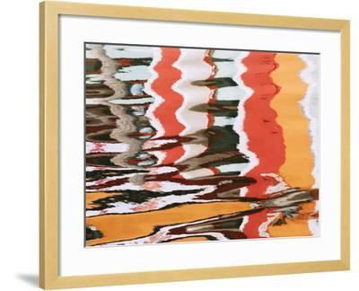 Colorful Reflections of Homes in Canal, Burano, Italy-Dennis Flaherty-Framed Photographic Print