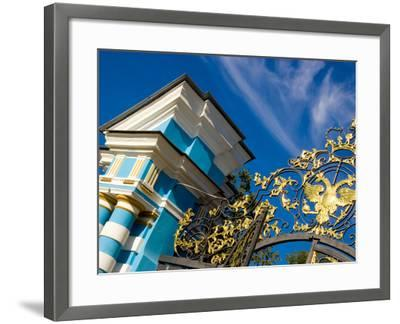 Gate Detail and Support Tower at Catherine Palace, Pushkin, Russia-Nancy & Steve Ross-Framed Photographic Print