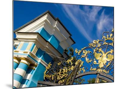 Gate Detail and Support Tower at Catherine Palace, Pushkin, Russia-Nancy & Steve Ross-Mounted Photographic Print