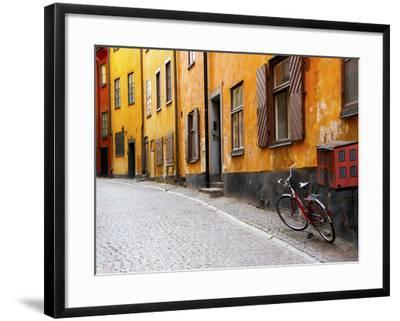 Street Scene In Gamla Stan Section With Bicycle And
