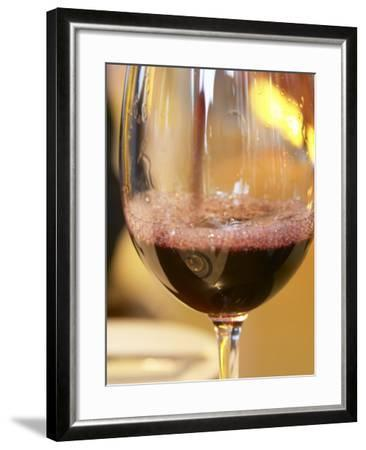 Glass of Red Wine, Restaurant Red at Hotel Madero Sofitel, Puerto Madero, Buenos Aires, Argentina-Per Karlsson-Framed Photographic Print