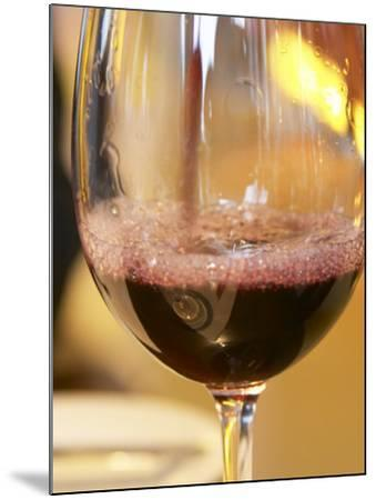 Glass of Red Wine, Restaurant Red at Hotel Madero Sofitel, Puerto Madero, Buenos Aires, Argentina-Per Karlsson-Mounted Photographic Print