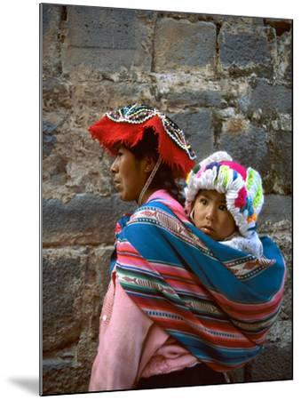 Mother Carries Her Child in Sling, Cusco, Peru-Jim Zuckerman-Mounted Photographic Print