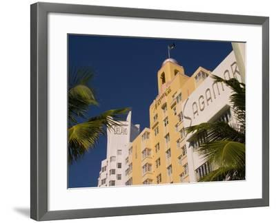 National, Delano, and Sagamore Hotels in Art Deco Style, South Beach, Miami, Florida, USA-Nancy & Steve Ross-Framed Photographic Print