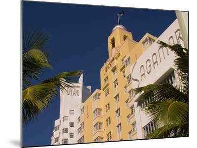 National, Delano, and Sagamore Hotels in Art Deco Style, South Beach, Miami, Florida, USA-Nancy & Steve Ross-Mounted Photographic Print