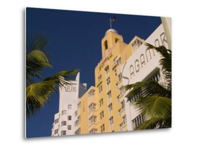National, Delano, and Sagamore Hotels in Art Deco Style, South Beach, Miami, Florida, USA-Nancy & Steve Ross-Metal Print