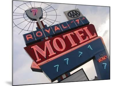 Royal 7 Motel Sign, Bozeman, Montana, USA-Nancy & Steve Ross-Mounted Photographic Print