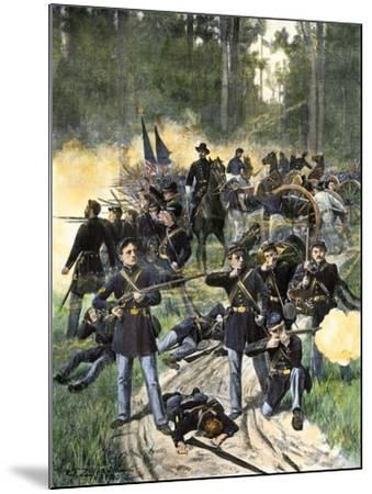 Union Troops Engaged at Gaines Mill, Virginia, June 27, 1862, American Civil War--Mounted Giclee Print
