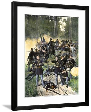 Union Troops Engaged at Gaines Mill, Virginia, June 27, 1862, American Civil War--Framed Giclee Print