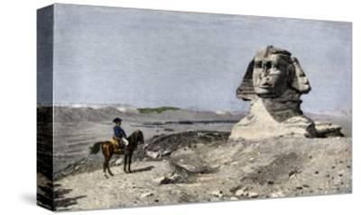 Napoleon and the Sphinx at the Time of the French Invasion of Egypt, c.1798--Stretched Canvas Print