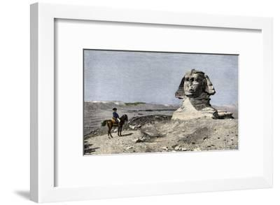 Napoleon and the Sphinx at the Time of the French Invasion of Egypt, c.1798--Framed Giclee Print