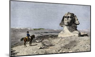 Napoleon and the Sphinx at the Time of the French Invasion of Egypt, c.1798--Mounted Giclee Print