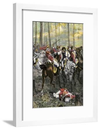 Combat during the Battle of Cowpens, c.1781--Framed Premium Giclee Print