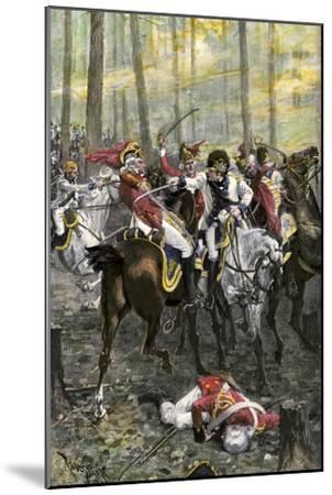 Combat during the Battle of Cowpens, c.1781--Mounted Premium Giclee Print