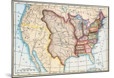 Map Of The U S In 1803 Showing The Louisiana Purchase Giclee Print