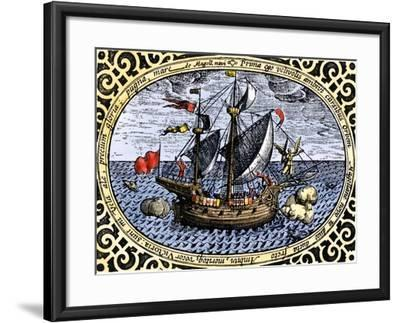 Victoria, One of Magellan's Fleet Which Circumnavigated the Earth, c.1519-1520--Framed Giclee Print