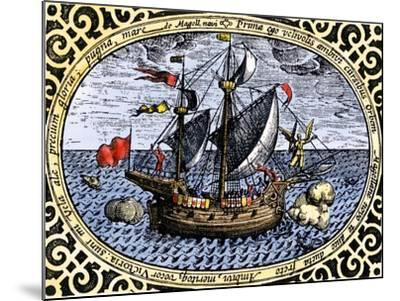 Victoria, One of Magellan's Fleet Which Circumnavigated the Earth, c.1519-1520--Mounted Giclee Print