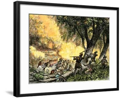 General Wayne's Victory at the Battle of Fallen Timbers, c.1794--Framed Giclee Print
