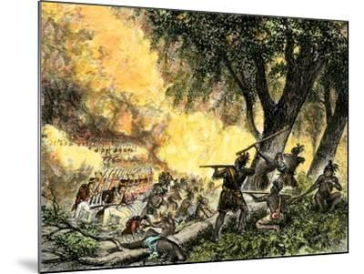 General Wayne's Victory at the Battle of Fallen Timbers, c.1794--Mounted Giclee Print
