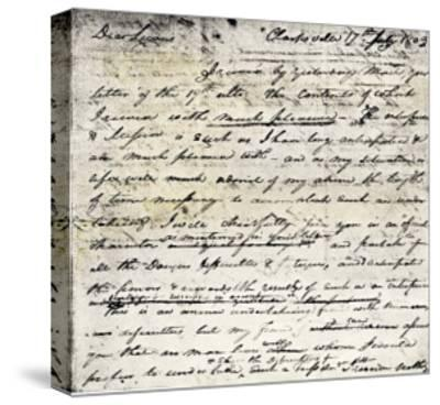 William Clark's Letter Accepting Lewis's Invitation to Join the Corps of Discovery Expedition--Stretched Canvas Print