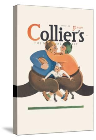 Collier's National Weekly, Referee in the Middle--Stretched Canvas Print