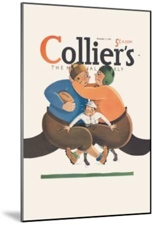 Collier's National Weekly, Referee in the Middle--Mounted Art Print
