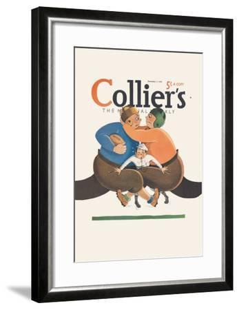 Collier's National Weekly, Referee in the Middle--Framed Art Print