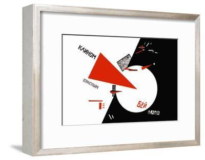 Drive Red Wedges into White Troops!-Lazar Lisitsky-Framed Art Print