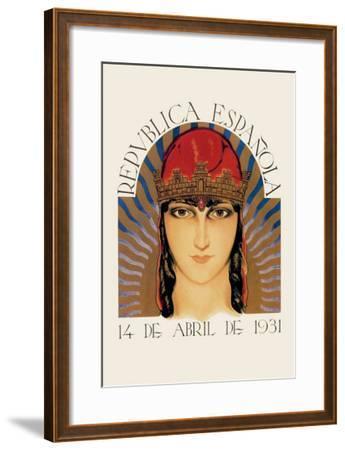 Republica Espanola--Framed Art Print