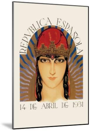 Republica Espanola--Mounted Art Print