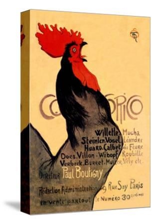 Cocorico, c.1899-Th?ophile Alexandre Steinlen-Stretched Canvas Print