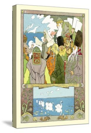 Swans-Ivan Bilibin-Stretched Canvas Print