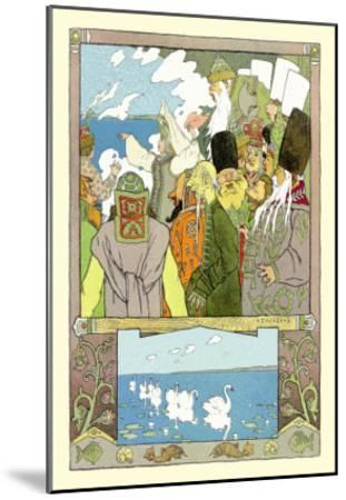 Swans-Ivan Bilibin-Mounted Art Print
