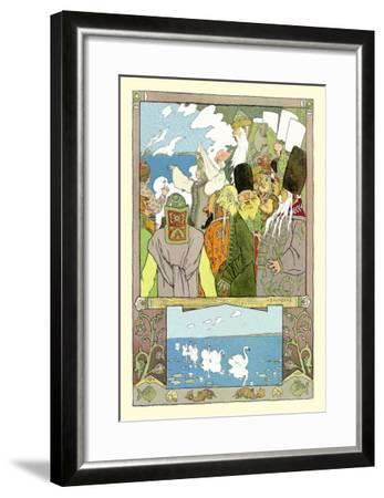 Swans-Ivan Bilibin-Framed Art Print