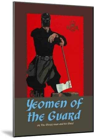 Gilbert & Sullivan: The Yeomen of the Guard (The Executioner)-Dudley Hardy-Mounted Art Print
