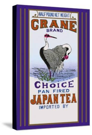 Crane Brand Tea--Stretched Canvas Print