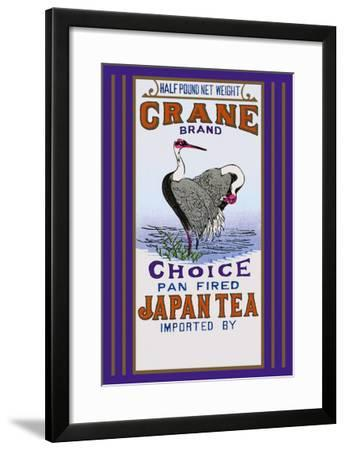 Crane Brand Tea--Framed Art Print